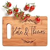 Personalized Cutting Board, Housewarming Gift | 9x6 | 12 Designs & 2 Sizes, Wedding Gifts for the Couple, Anniversary Gift & Kitchen Sign - Handle