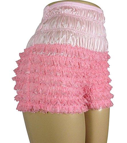 Malco Modes Womens Sexy Ruffle Panties Tanga Dance Bloomers Sissy Booty Shorts (Light Pink, Large)