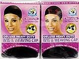Annie Deluxe Heavy Duty Wig & Weaving Cap (Black) #4438 (12pcs)