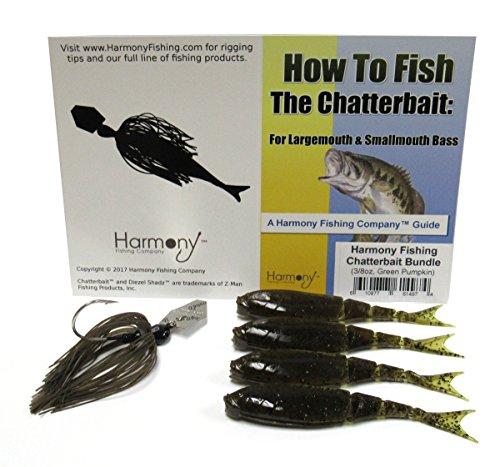 Harmony Fishing Company Chatterbait Kit - Z-Man 3/8Oz Chatterbait +