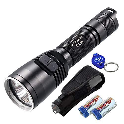 Bundle: Nitecore CU6 High Power 3000mW 365nm Ultraviolet UV-A 440 Lumens White Dual Beam Professional Inspection LED Flashlight, 2xCR123A Batteries & Lumentac Keychain Light