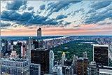 Posterlounge Cuadro de metacrilato 60 x 40 cm: Central Park from The Top of Rockefeller Center de Mike Centioli