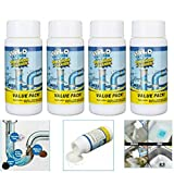 4PACK Powerful Sink and Drain Cleaner, Portable Powder Cleaning Tool Super Clog Remover Chemical Powder Agent for Kitchen Toilet Pipe Dredging