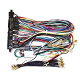 TX GIRL Jamma Harness Botton Wires Jamma 28 Pin con 4 Botones Cables para Arcade Game Machine Mapineces Accesorios (Size : 28 Pin)