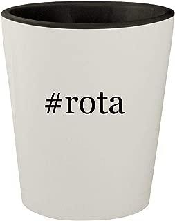 #rota - White Outer & Black Inner Hashtag Ceramic 1.5oz Shot Glass
