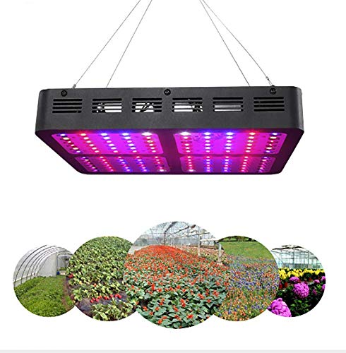 Gymqian 1200W Doppelschalter Pflanzenlicht COB Led Grow Light Reflector LED Pflanzenlampe Double Chips Pflanzenlicht Full Spectrum Growing With Daisy Chain For Veg And Flower
