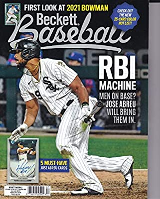 Dec 2020 Price Guide Baseball Price Guide Magazine Vol 20 No 12 Jose Abreu