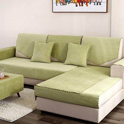 MSM Impermeable Funda para sofá Funda Cubre sofá, Anti-Que Patina Protector de Muebles Permanecer en su Lugar Mascotas Perros Niños, 1 Pieza-Verde Claro 28x83inch