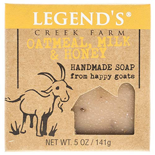 Legend's Creek Farm, Goat Milk Soap, Creamy Lather and Nourishing, Handmade in USA, 5 Oz Bar (Oatmeal, Milk & Honey O.S.)