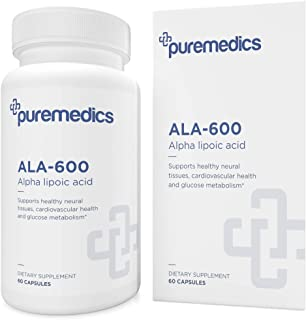 PUREMEDICS ALA 600 (Alpha lipoic Acid 600mg) - ALA Supplements to Support Glutathione Production - Recommend by Doctors - ...