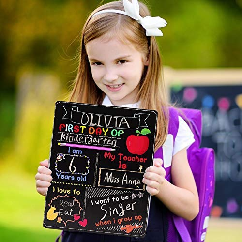 First Day of School Board, My First Day of School Chalkboard, First Day of School Sign Reusable, Back to School Board 10…