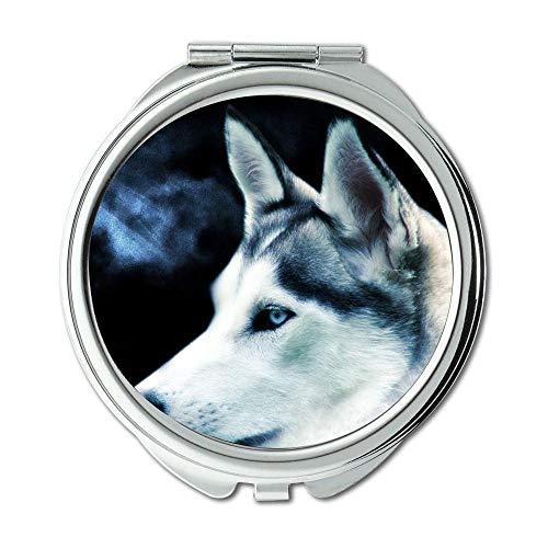 Yanteng Spiegel, Runder Spiegel, Pupp Dog Pet, Taschenspiegel, 1 X 2X Vergrößerung