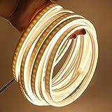 XUNATA - Striscia LED flessibile al neon bianco caldo, 5 m, impermeabile 2835, luce della corda per esterni, feste, decorazione di pubblicittà, firmare, bianco