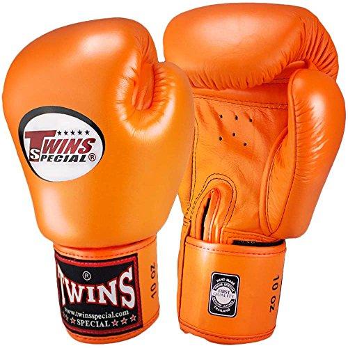 Twins Boxhandschuhe, Leder, BGVL-3, orange Size 14 Oz