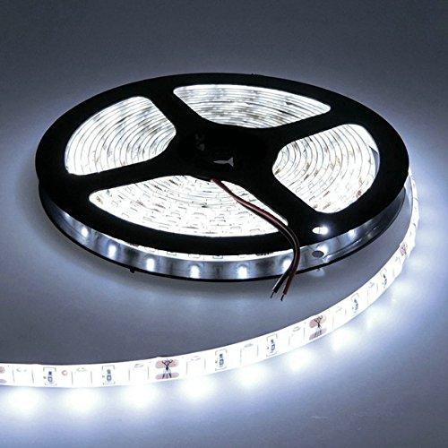 MASUNN 5 M Wasserdicht Weiss/Warm Weiss SMD 5730 300 LED Flexible Strip Tape Light Dc12V-Weiß