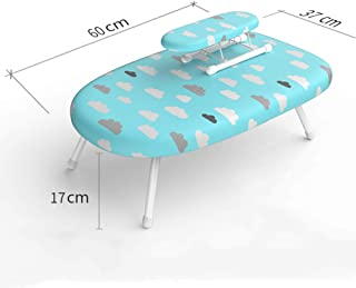 YJTGZ Ironing Board, Small Mini Iron Worktop Table Shelves Compact Desktop Ironing Board Multifunction Multicolor Optional Cute Style Folding Storage Breathable Stable Structure(E)