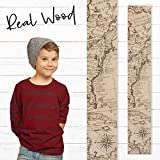 Growth Chart Art | Wooden Map Growth Chart for Kids [Boys & Girls] – Children's Room Décor Height Chart | East Coast Map Natural