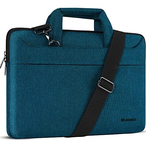 DOMISO 14 Pulgada Impermeable Funda Portatil Bolsa Maletín para portátiles con Asa para 14' Lenovo ThinkPad X1 Carbon/ThinkPad A475 L480 T490s/HP ProBook 640 645/Dell Latitude 5490 7490,Verde Azulado