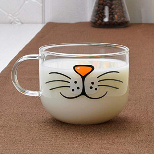 Novelty Cat Face Glass Mugs Cup Milk Cup Coffee Cup Creative Birthday Wedding Party Favors Gifts Mug