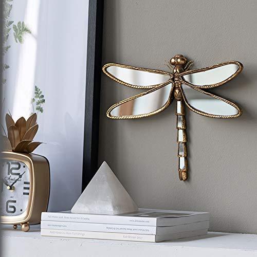 zenggp Hars vlinder/libelle spiegel wanddecoratie meisjes slaapkamer prachtige muurkunst dragonfly