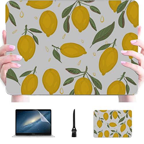 Macbook 15 Funda Sour Lemon Yellow Lovely Plastic Hard Shell Compatible Mac Air 13'Pro 13' / 16'Fundas para Macbook Pro Funda Protectora para Macbook Versión 2016-2020