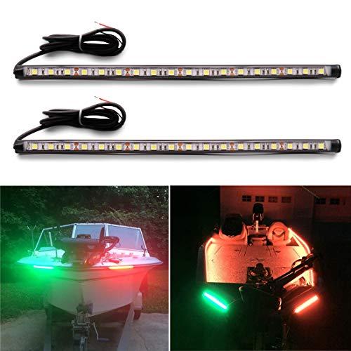 Botepon Marine Led Boat Lights, Led Navigation Lights, Red and Green Bow Lights, Boat Stern Lights IP67 Waterproof for Pontoon Boat Dinghy Kayak Yacht Vessel