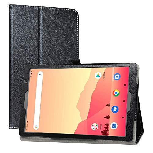 LiuShan Compatible with Vankyo MatrixPad S20 Case/Yuntab D107 Case,PU Leather Slim Folding Stand Cover for Vankyo MatrixPad S20 10 inch Tablet/Yuntab D107 Tablet(Not Fit MatrixPad S30),Black