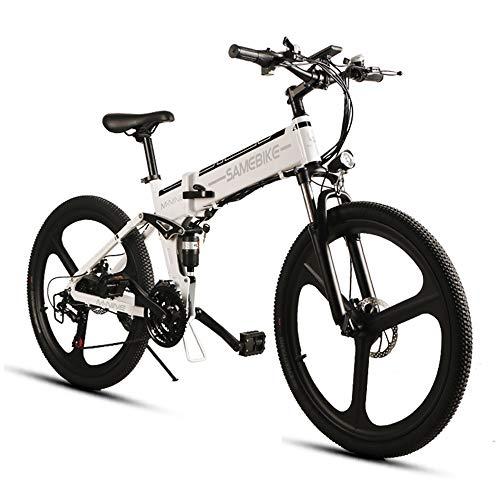 SHIJING De opvouwbare elektrische fiets, 48 V, 10 AH, 350 W, 25 km/u, 26 inch, aluminium mountainbike, vloeibare kristallen aanduiding, E-maximale belasting 90 kg, 1
