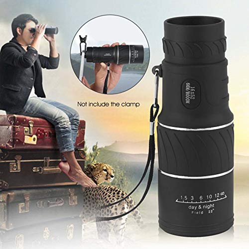 Frackkon Bushnell 16x52 Monocular Telescope,HD Monocular Dual Focus Optics Zoom Portable Monocular HD Optical with Carrying Bag/Cleaning Cloth, for Wildlife Hunting Watching Live Concert 66M/8000M