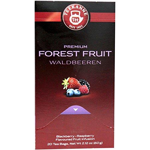 Teekanne Früchtetee Waldbeere Premium (20x3g Packung)