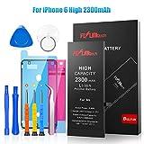 FLYLINKTECH Batteria per iPhone 6 Alta Capacità 2200mAh Batteria Interna di Ricambio in Li-ion, Strumenti di Riparazione Professionale Completi con Kit Sostituzione, Cacciavite Strumenti e Adesivo