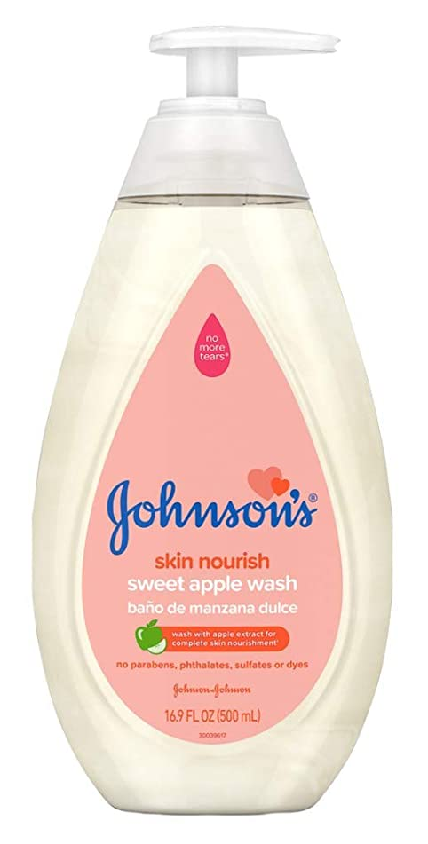 Johnsons Baby Wash Sweet Apple 16.9 Ounce (500ml) (6 Pack)