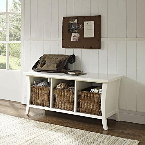 Crosley Furniture Wallis Entryway Storage Bench, White