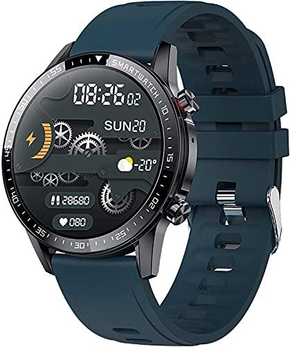 YQCH Bluetooth Smart Watch Monitor de Ritmo cardíaco Fitness Tracker con presión Arterial Control de música Control de sueño Make Call Sport Relojes para Hombres Mujeres (Color : Green)
