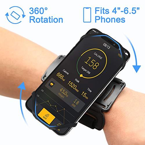VUP Sportarmband Handytasche Sport für alle 4 bis 6.1 Zoll Smartphones Handy Armband Running Armband für Joggen Laufen Gym Radfahren Wandern Klettern Armtasche