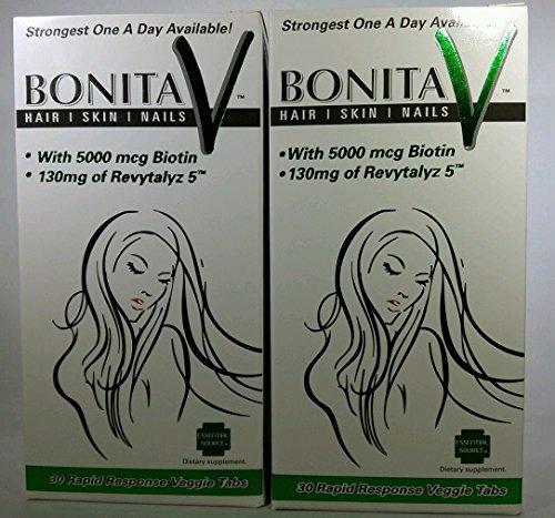 Essential Source Bonita V - Hair Skin and Nails 30 Veggie Tablets (2Pack)