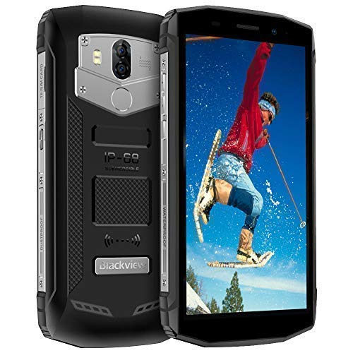 Blackview BV5800,Movil Antigolpes 5580mAh 18:9 Pantalla Completa 5.5'',Android 8.1 Smartphone Red Dual 4G,13+8MP Dual Cámara IP68 Impermeablel a Prueba de Golpes,2+16GB Moviles Resistentes,Negro