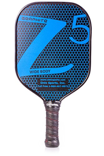 ONIX Graphite Z5 Pickleball Paddle (Graphite Carbon Fiber Face with Rough Texture Surface, Cushion Comfort Grip and Nomex Honeycomb Core for Touch, Control, and Power)