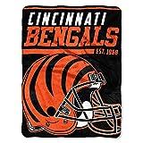 The Northwest Company NFL Cincinnati Bengals 40 Yard Dash Micro Raschel Throw Blanket, 46 x 60-inches, Brown