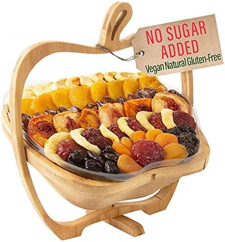 Oh Nuts Christmas Gift Baskets Healthy No Sugar Added Huge Assortment of Dried Fruit Gourmet product image