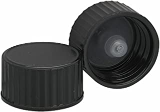 Wheaton 239251 Black Phenolic Screw Cap with PE Poly-Seal Liner, 18-400 Size (Pack of 144)