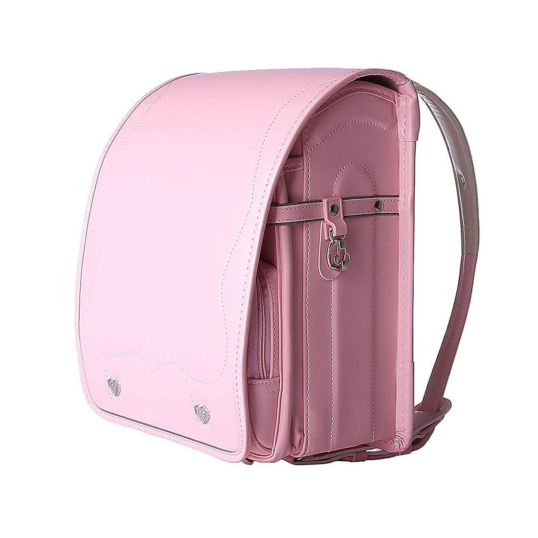 あいまいさマリン温度計男の子と女の子のための自動ロック日本の通学バッグ3-5グレードPUレザー子供の負担軽減リッジバックパック