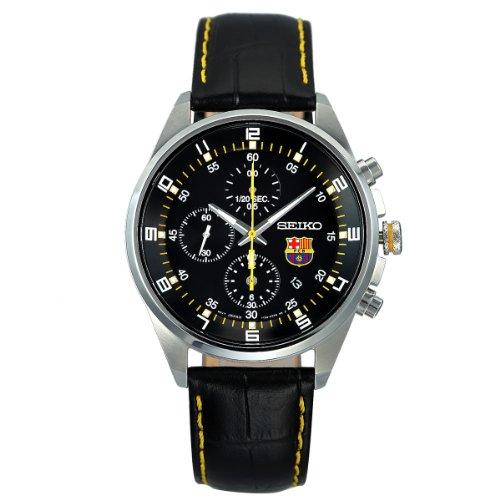 Seiko Reloj Analógico para Hombre de Cuarzo con Correa en Cuero 4954628144447