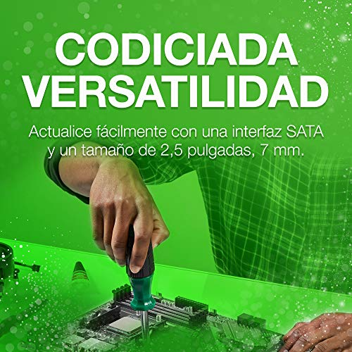 Seagate BarraCuda 120 SSD, 500 GB, Unidad de estado sólido interna, SSD, 2.5 pulgadas, SATA a 6 Gb/s para portátil, ordenador de sobremesa o PC, Paquete Abre-fácil (ZA500CM1A003)