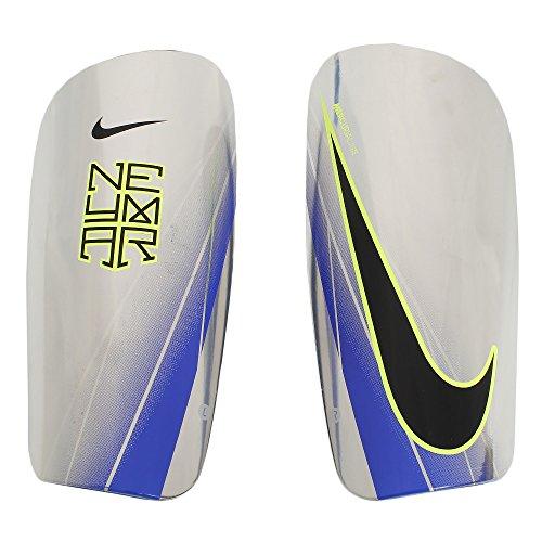 Nike Neymar Mercurial Lite Schienbeinschoner, Chrome/Volt/Racer Blue/(Black), XL