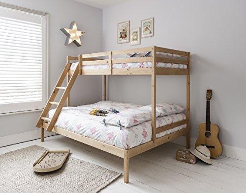 Litera con tres camas Kent en color natural, de Noa & Nani