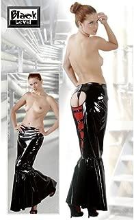 Black Level larga falda Negra Abierta vinilo en talla S: Amazon.es ...