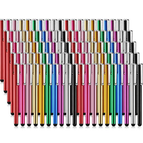 Outus 100 Pieces Stylus Pen Slim Touch Stylus Universal Capacitive Stylus Digital Pen Compatible with iPad, iPhone, Samsung, Tablet, Most Devices with Capacitive Touch Screen (Multicolor)
