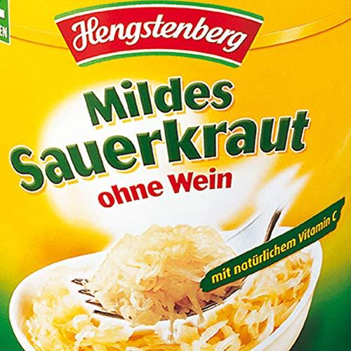Hengstenberg Mildes Sauerkraut ohne Wein 10Kg Dose beste Restaurantqualität, Gastronomiequalität in der Party-Groß-Dose - WF-KOKR002