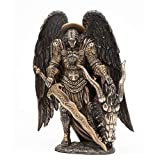 Pacific Giftware Saint Michael Slaying The Evil Dragon Mighty Warrior and Protector San Miguel Statue (10 inch)